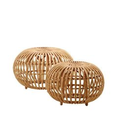 The Franco Albini ottoman in rattan, designed in Today manufactured by Sika Design, available from Twentytwentyone. Rattan Ottoman, Rattan Stool, Round Ottoman, Ottoman Bench, Ottoman Ideas, Large Ottoman, Ottoman Design, Bamboo Furniture, Colorful Furniture