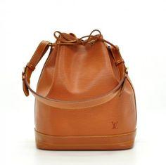 Louis Vuitton Noe Brown Cipango Gold Epi Leather Large Shoulder Bag