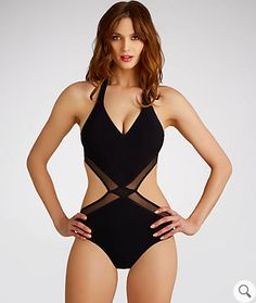 This beautiful mesh cut out halter | 29 One Piece Swimsuits That Aren't For Your Mom