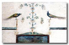 Ancient Pompeii and Herculaneum.    Roman paintings in ancient Pompeii and Herculaneum. Museo Archeologico Nazionale, Naples. Italy