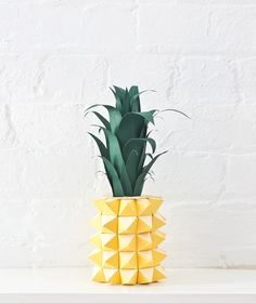 Paper Pineapple by Marsha Golemac.