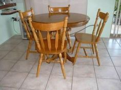 Baltic pine Table and Chairs.    Price: $200.00