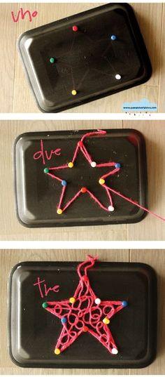 Quandofuoripiove: decorazioni di Natale da fare con i bambini (e la lana) Christmas Activities, Christmas Crafts For Kids, Xmas Crafts, Baby Crafts, Decor Crafts, Christmas Time, Diy And Crafts, Nativity Star, Christmas Nativity
