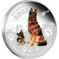 GERMAN SHEPHERD Police Dog Working Dogs Silver Coin 1$ Tuvalu 2011 Silver Labrador Retriever, Buy Gold And Silver, Guide Dog, Proof Coins, Police Dogs, Australian Cattle Dog, Working Dogs, Doge, Perth