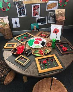 Preschool Art Activities, Creative Activities, Preschool Activities, Poppy Activities For Toddlers, Remembrance Day Activities, Remembrance Day Art, Reggio Emilia Classroom, Art Classroom, Teaching Kindergarten