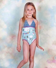 a4bdd81c67 Jelly the Pug Aqua Hello Summer Windy One-Piece - Toddler   Girls