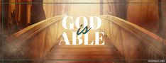 God Is Able | Christian Facebook Cover