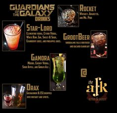 Guardians of the Galaxy drinks-do mocktail versions for kids