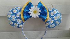 Minnie Loves Daisies Custom Mouse Ears inspired by