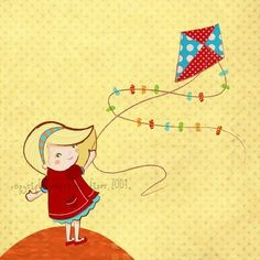 Moxie Fab World: Five for Friday: Let's Go Fly a Kite! Cloth Paper Scissors, Go Fly A Kite, Mixed Media Tutorials, Sketch Pad, Kites, Mixed Media Artists, Pictures To Draw, Little Princess, Digital Illustration