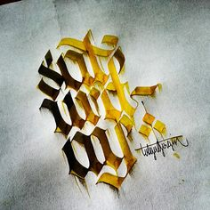 Some Colorful Letterings with Parallelpen - Part 1 by  Tolga Girgin