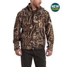 dfbc80278e45b Carhartt Men's Camo Shoreline Jacket with Storm & Rain Defender - The  Brown… Carhartt