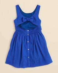 Burberry Girls' Anny Back Cutout Dress - Sizes Little Girl Outfits, Little Girl Fashion, Kids Outfits, Kids Dress Up, Baby Dress, Young Fashion, Kids Fashion, Moda Kids, Girls Dresses