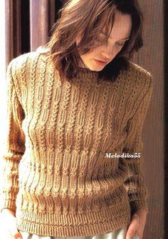 ***Пуловер цвета карри