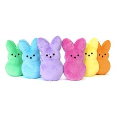 I have some plush Peeps, but not a green or a peach/orange one. Must get to add to the Peep family.