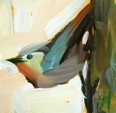 """""""nuthatch no. 10"""" - Original Fine Art for Sale - © Angela Moulton Great expression of potential energy!"""