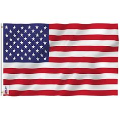 x 6 ft. Polyester USA American United States Flag Banner with Brass Grommets and Canvas - The Home Depot ANLEY Fly Breeze 4 ft. x 6 ft. Polyester USA American United States Flag Banner with Brass Grommets and Canvas Header American Flag Images, Wooden American Flag, Wooden Flag, Star Spangled Banner, In China, American Flag Etiquette, Memorial Day, Wisconsin, Displaying The American Flag