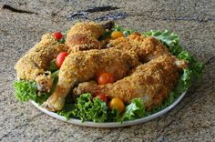 Easy Oven Fried Chicken With Cornflake Crumb Coating