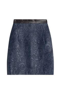 MARY KATRANTZOU Embossed Leather Mini Skirt. #marykatrantzou #cloth #leather