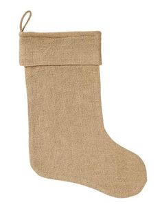 Burlap Natural Stocking 11x15