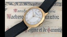 Vacheron & Constantin (English). A timepiece of the 1950s with engine-turned dial.