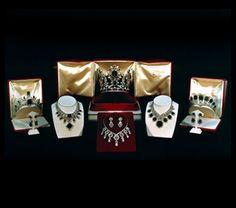 The coronation set of Empress Farah Pahlavi