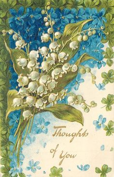 Postcard, Thoughts of You from the Remembrance Set; Gilt embossed, chromographed in Berlin; first use 1906.  Tuck.