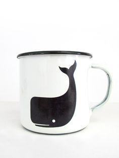 Steel mug Whale - 14€