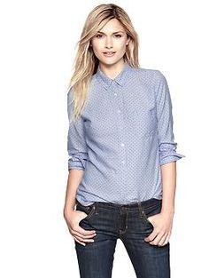 Perfect oxford dot shirt   Gap