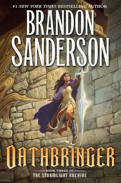 """We are excited to reveal artist Michael Whelan's cover to the U.S. edition of Oathbringer, the much-awaited third book in Brandon Sanderson's Stormlight Archive fantasy series. """"W…"""