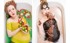 Pregnancy Cravings And Moods Brought To Life In Whimsical Photo Shoot