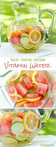 Refreshing, nourishing fruit and herb infused water - great for hydrating on hot summer days! Refreshing, nourishing fruit and herb infused water - great for hydrating on hot summer days! Refreshing Drinks, Summer Drinks, Fun Drinks, Summer Food, Healthy Summer, Summer Fruit, Healthy Water, Summer Dishes, Summer Detox