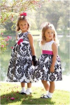 Black and White Flower Girl Dresses | Mine Forever