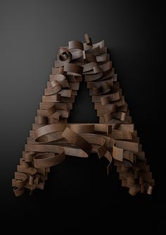 Typography Built With Wooden Slats by Txaber