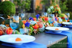 Garden wonderland table in wine country by Floralisa.com