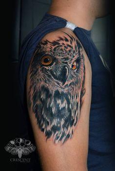 Custom Owl #realism #owl #tattooart #inked #tattoos #colour #tattoo