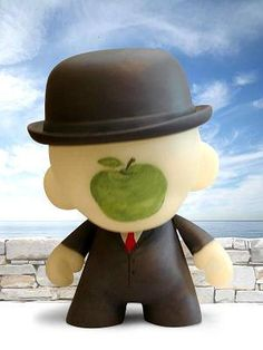 Magritte Son Of Man | rene magritte s the son of man as a munny by hawkeyefinn buy munnys at ...