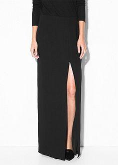 Slit long skirt