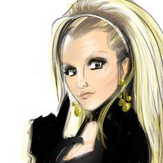 Scream & Shout / William Reiss (ihave4catz.tumblr.com/)  #Art #Britney #BritneySpears #Drawing #Illustration #Music #Painting #Gif