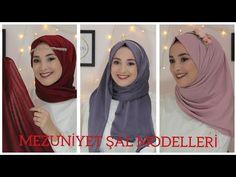 YouTube Hijab Style Tutorial, Bridal Hijab, Mode Hijab, Turban, Hijab Fashion, Bride, Youtube, Hair Styles, Women