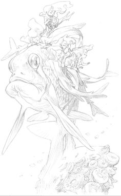 personal stuff, sketching just for me, useful in a project eventually - Claire Wendling
