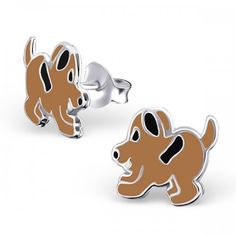 Sterling Silver Brown Puppy Dog Stud Earrings by Girl Almighty. High Quality Earrings for Girls. Brown Puppies, Brown Dog, Dogs And Puppies, Animal Earrings, Stud Earrings, Girls Earrings, Beautiful Gift Boxes, Sterling Silver Earrings Studs, Urban Outfits