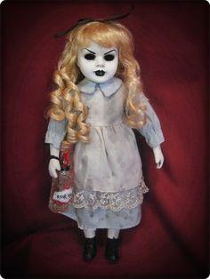 Creepy Alice in Wonderland Doll with Drink Me Bottle Halloween horror art prop dolls  ebay id: bastet2329