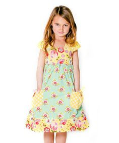 Another great find on #zulily! Bunnies & Bows Picnic Dress - Infant, Toddler & Girls #zulilyfinds