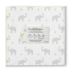 SwaddleDesigns Ultimate Swaddle, X-Large Receiving Blanket, Made in USA, Premium Cotton Flannel, Elephant and Pastel Yellow Chickies (Mom's Choice Award Winner) Baby Swaddle Blankets, Receiving Blankets, Baby Shower Gifts, Baby Gifts, Happy Elephant, Kids Play Area, Baby Necessities, Stroller Blanket, Welcome Baby