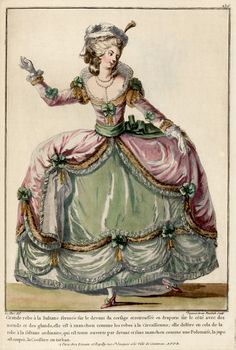 EKDuncan - My Fanciful Muse: c1774 French Fashion Plate in the Style of Marie Antoinette
