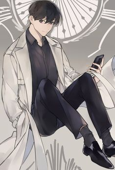 Handsome Anime Guys, Cute Anime Boy, Boy Art, Kageyama, Manga, Webtoon, Cute Art, My Drawings, Chibi