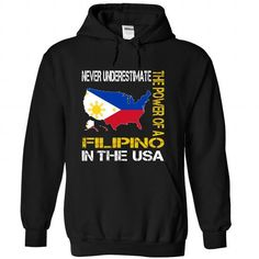 Never Underestimate The Power of a Filipino in the Unit - #gift box #personalized gift. LIMITED TIME => https://www.sunfrog.com/States/Never-Underestimate-The-Power-of-a-Filipino-in-the-United-States-qtazrjfkwi-Black-Hoodie.html?id=60505