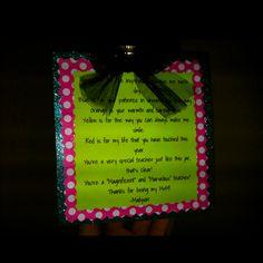 Teacher M poem! Fill mason jar w/ M's, and attach poem!
