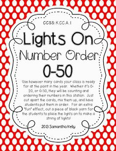 In the sprit of giving... a FREEBIE!  Number Order 0-50.